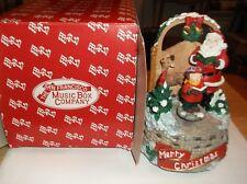 Cr) San Francisco Music Box Company Caroler & Santa Wish You a Merry Xmas W/box