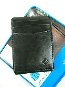 Columbia Men's Front Pocket Wallet Magnetic Money Clip RFID Block BLK 31GO160003