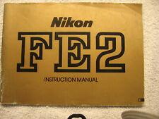 Nikon Fe2 Instructions (Free Shipping)