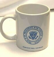 SLICK TIMES PRESIDENT OF THE UNITED STATES SEAL CERAMIC COFFEE MUG / CUP 1993
