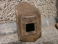 Vintage Old Welding Mask Shield Hood Helmet Fireproof Cardboard Great Decoration