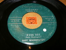 BABY WASHINGTON - WORK OUT - LET'S LOVE IN THE MOONLIGHT - LISTEN - MOD RNB