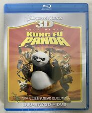 Kung Fu Panda (3D Blu-ray/DVD, 2011, 2-Disc Set) Brand New Sealed Free Shipping!