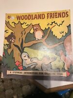 Our Woodland Friends 1948 COLORING PAINT BOOK RARE