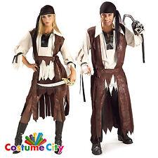 ADULTI COPPIE Caraibi BUCCANEER Pirata Costume Festa Halloween Costume