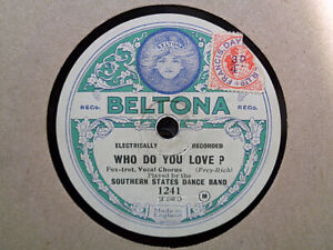 SOUTHERN STATES DANCE BAND - Who Do You Love? 78 disc (SYD ROY, WILLIE CRAEGER)