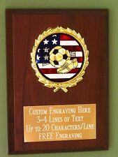 Soccer/Sport/Flag Award Plaque 4x6 Trophy FREE engraving