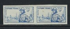 B&D: 1941 French Guiana Scott B11 Imperforate Pair Nh-small fault-fresh