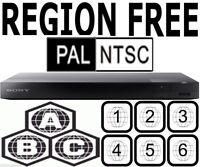 Sony Region Code Free Blu Ray DVD Player Plays Worldwide DVD PAL NTSC All Zones