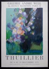 THUILLIER 1972 Affiche originale exposition peinture Galerie André WEIL Paris