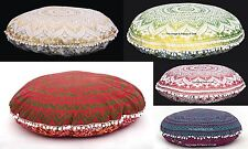 10 PC Indian Floor Pillow Ottoman Sham Ombre Mandala Cushion Cover Wholesale Lot