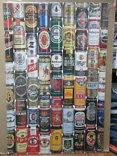 Vintage Beers 1995 poster miller guinness coors heineken fosters 12435