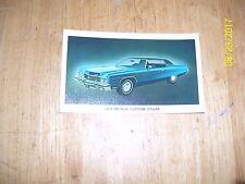 1973 Chevrolet Impala Custom  Coupe ORIGINAL Factory Postcard
