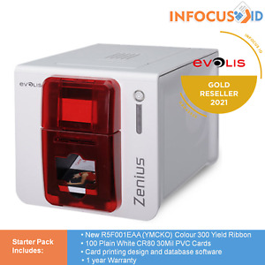 Brand New Evolis Zenius Expert Single Sided Direct to Card ID Printer Fire Red