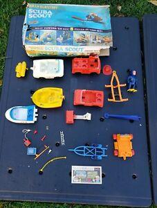 Vintage Eldon Billy Blastoff Scuba Scout Toy Parts & Instructions, Acces.  Japan