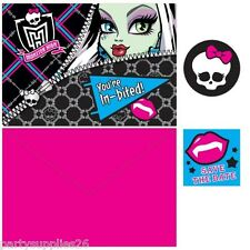 MONSTER HIGH PARTY SUPPLIES INVITE INVITATIONS PACK OF 8