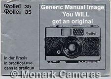 Rollei 35 Led Manual de instrucciones, más de 35 mm cámara libros y guías del usuario en venta