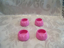 G1 VINTAGE MY LITTLE PONY ADULT HORSE PINK BOW SHOES SET OF 4