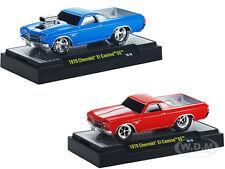 GROUND POUNDERS 1970 CHEVROLET EL CAMINO SS 2 CAR SET 1/64 M2 MACHINES 82161-11A