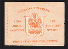 CANADA 1951 25c BOOKLET SB47a FINE & COMPLETE.