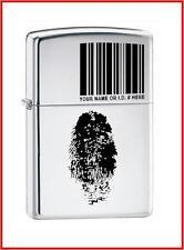 Zippo FINGER PRINT ID Lighter,20836,+Wick +Flints