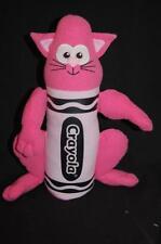 """CRAYOLA PINK CRAYOLA CRAYON KITTEN KITTY CAT 13"""" PLUSH STUFFED ANIMAL LOVEY TOY"""
