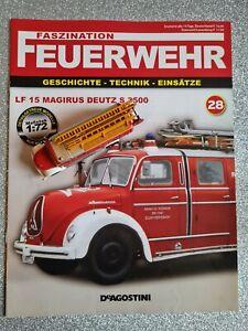 Feuerwehr DeAGOSTINI (28) 1:72 LF 15 Magirus Deutz S 3500