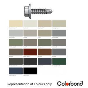 10g-16x16mm Hex Metal Fencing & Walling Tek Screw - Colorbond Painted