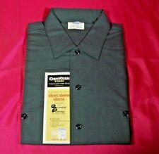 Vintage Men's Dark Green Work Short Sleeve Shirt OshKosh...