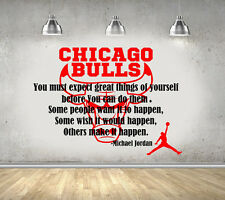 Michael jordan citation basketball chicago bulls chambre mur art autocollant/autocollant