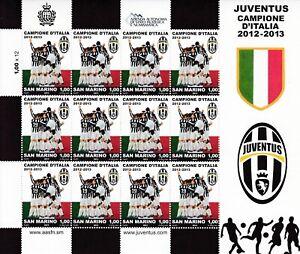 2013 SAN MARINO  Juventus campione d'Italia 2012/2013 FOGLIETTO - MNH **