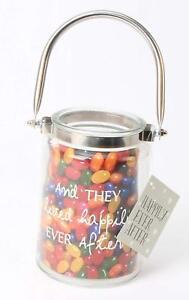 3 x Wedding Party Favours Glass Mason Jars