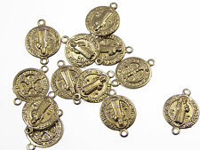Wholesale St Benedict Our Father rosary bead paters x10 jewellery connectors