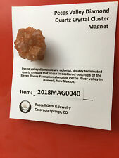 Handcrafted Pecos Valley Diamond Quartz Crystal Cluster Magnet (2018MAG0040)