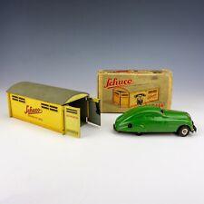 Schuco Garage & 1750 Tinplate Clockwork Car - Boxed!