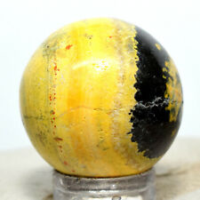 25mm Bumble Bee Jasper Sphere Yellow Black Natural Banded Crystal Ball Indonesia