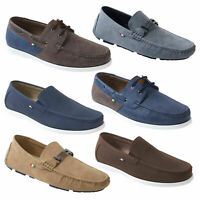 Duke D555 Big Tall King Size Mens Classic Designer Slip On Deck Boat Shoes