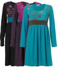 Boho Polyester Scoop Neck Dresses for Women