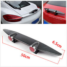 Carbon Fiber Look Wing Spoiler Completed Kit Dual Lamp For Car Bumper Tail Roof