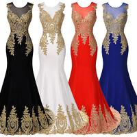 Vintage Long Evening Wedding Prom Party Dresses Cocktail Ball Gown Formal Dress