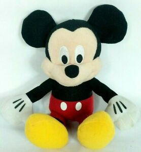 Disney Just Play Mickey Mouse Black Red Plush Stuffed Animal 10.5""