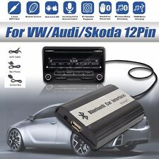1set Car Bluetooth Kits Hands-free Stereo AUX Adapter Interface Fit For VW-12PIN