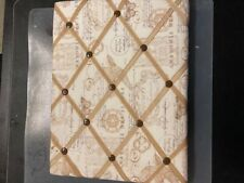 Decorative Push Pin Board, practically new never used pins on it, 12in by 16in