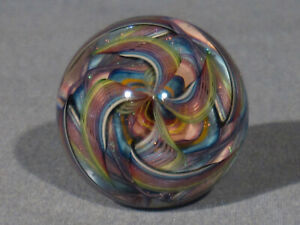Marbles: Hand Made Art Glass Alloway Dichroic Fountain of Youth #130    1.35inch