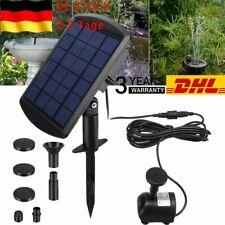 LED Wasserspiel Solarpumpe mit Akku Springbrunnen Gartenbrunnen Teichpumpe
