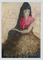 E.KLEPPER (1906-1980), Carmen, 1945, Aquarell und Federzeichnung