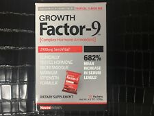 Novex Biotech Growth Factor-9 tropical flavor mix drink 30 packets brand new
