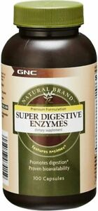 GNC Natural Brand Super Digestive Enzymes, 100 Capsules, Supports Protein,...
