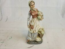 Flambro Porcelain Figurine Old Woman Carrying Laundry Pt2