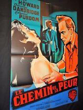 LE CHEMIN DE LA PEUR  affiche cinema 1960